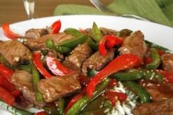 Chinese Stirfry Pepper Steak